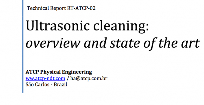 Ultrasonic cleaning: overview and state of the art